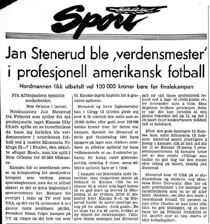 Aftenposten 17.januar 1970