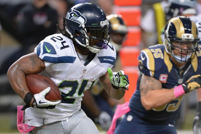 Marshawn Lynch vs StLouis Rams - Michael B. Thomas Getty Images