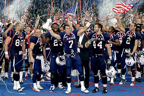 IFAF World Champship Wien USA celebrates