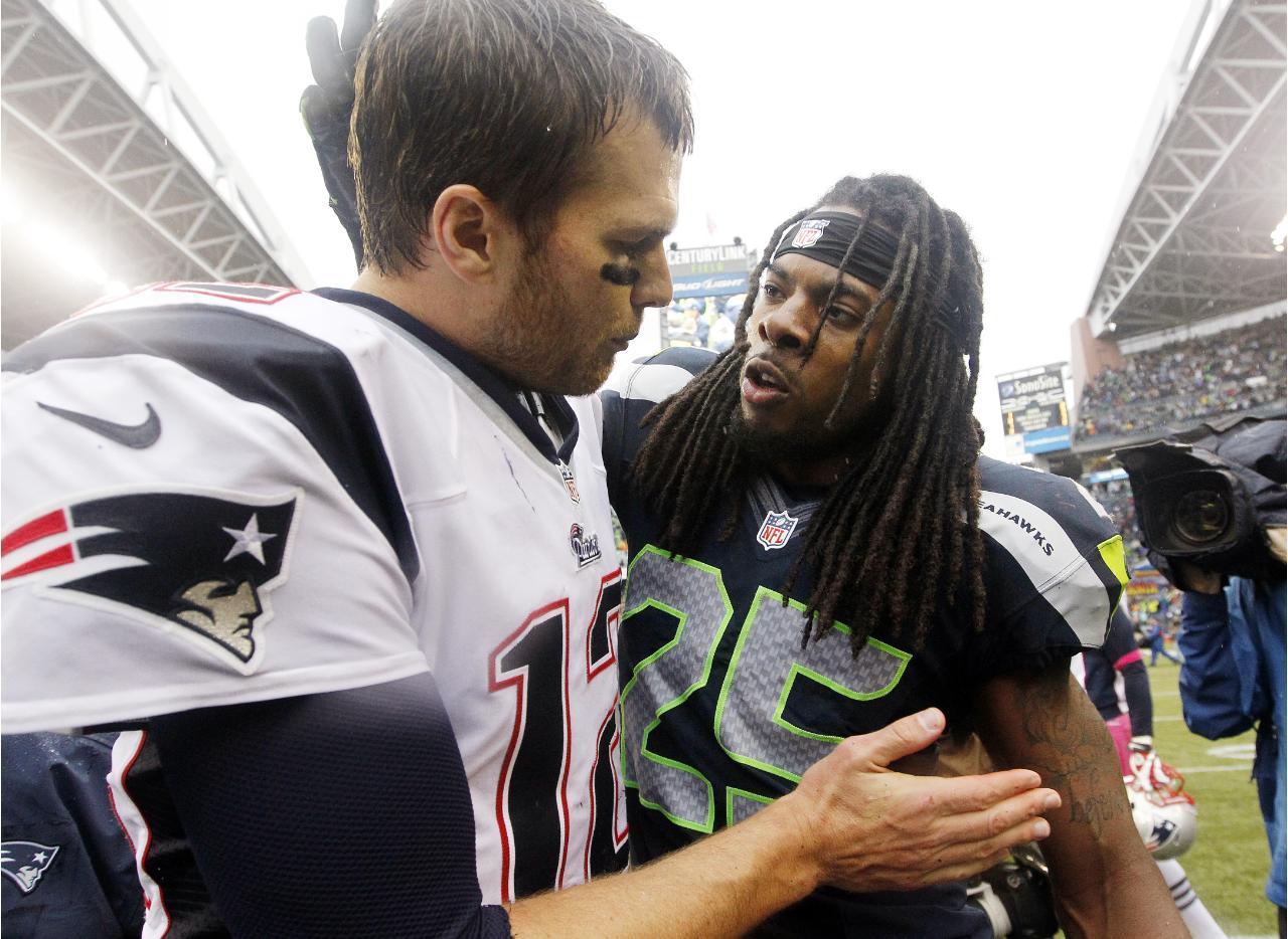 Tom Brady får en hard nøtt å knekke, når han skal opp mot Richard Sherman og resten av Seahawks forsvaret i Super Bowl 49.