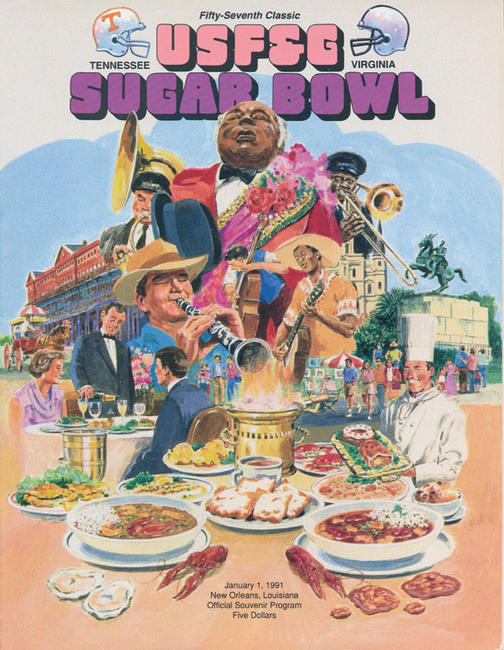 1991 Sugar Bowl official souvenir program
