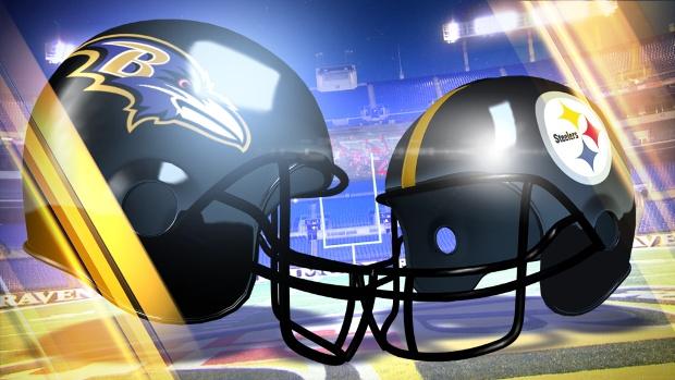 Ravens-Steelers-helmets