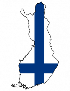 flag map of finland