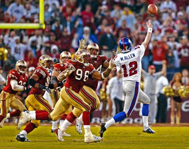 Giants at 49ers 2003 Allen pass