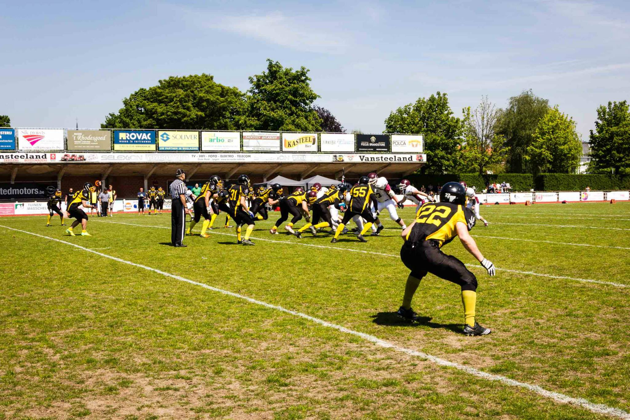 Izegem Tribes vs Ostend Pirates 2014 - foto Kristien Devlies