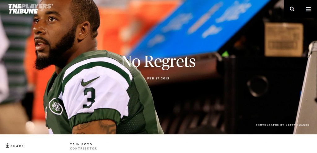 Tajh Boyd - No regrets