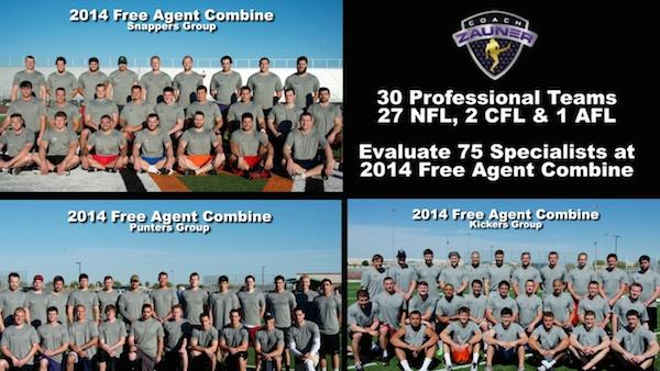 Coach Zauner 2014 Free Agent Combine Groups