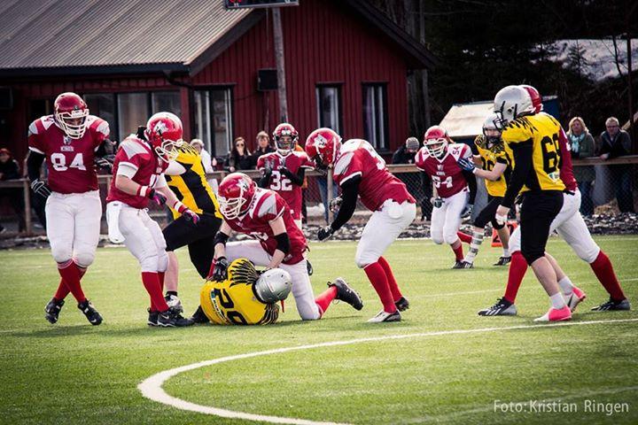 Fredrikstad Kings vs Gjøvik Swans 2014 foto Kristian Ringen