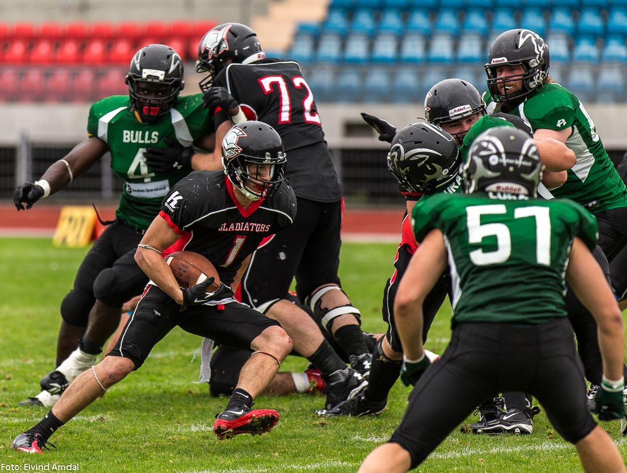 Glads vs Bulls semi 2014 - foto Eivind Amdal