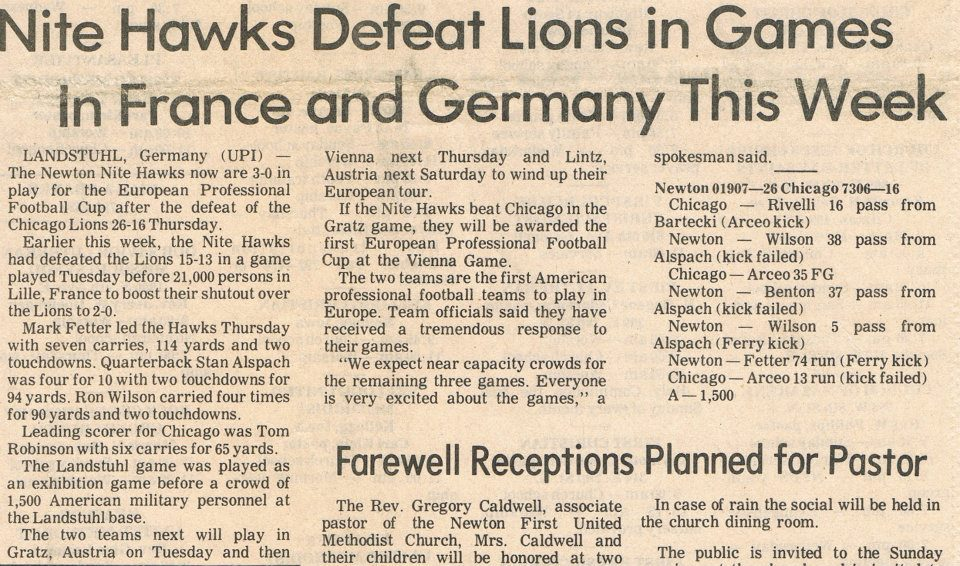 Nitehawks 1977 newspaperclippings 01