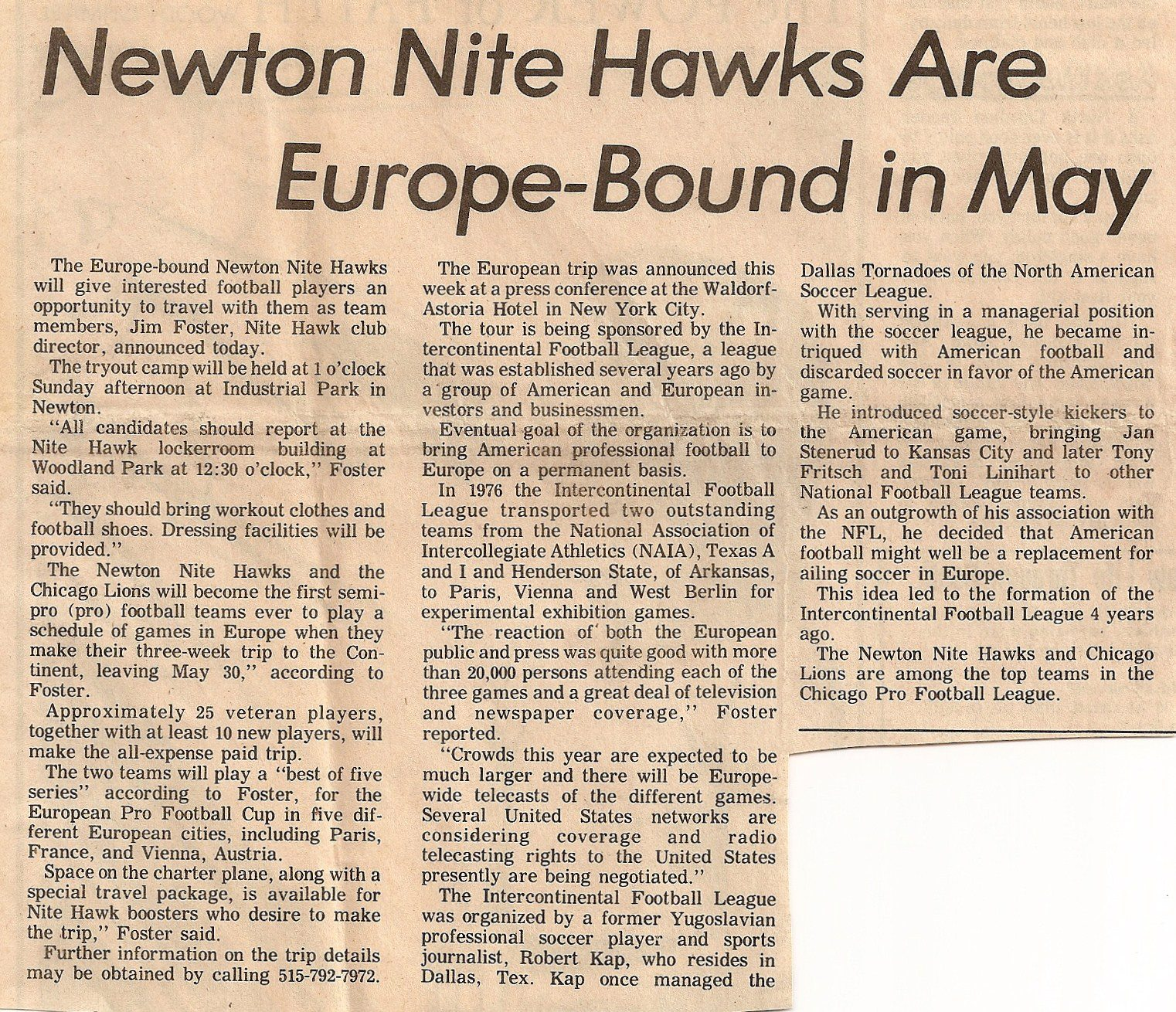 Nitehawks 1977 newspaperclippings 04