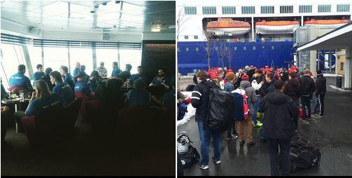 Oslo-lagene på vei til Danmark 2015