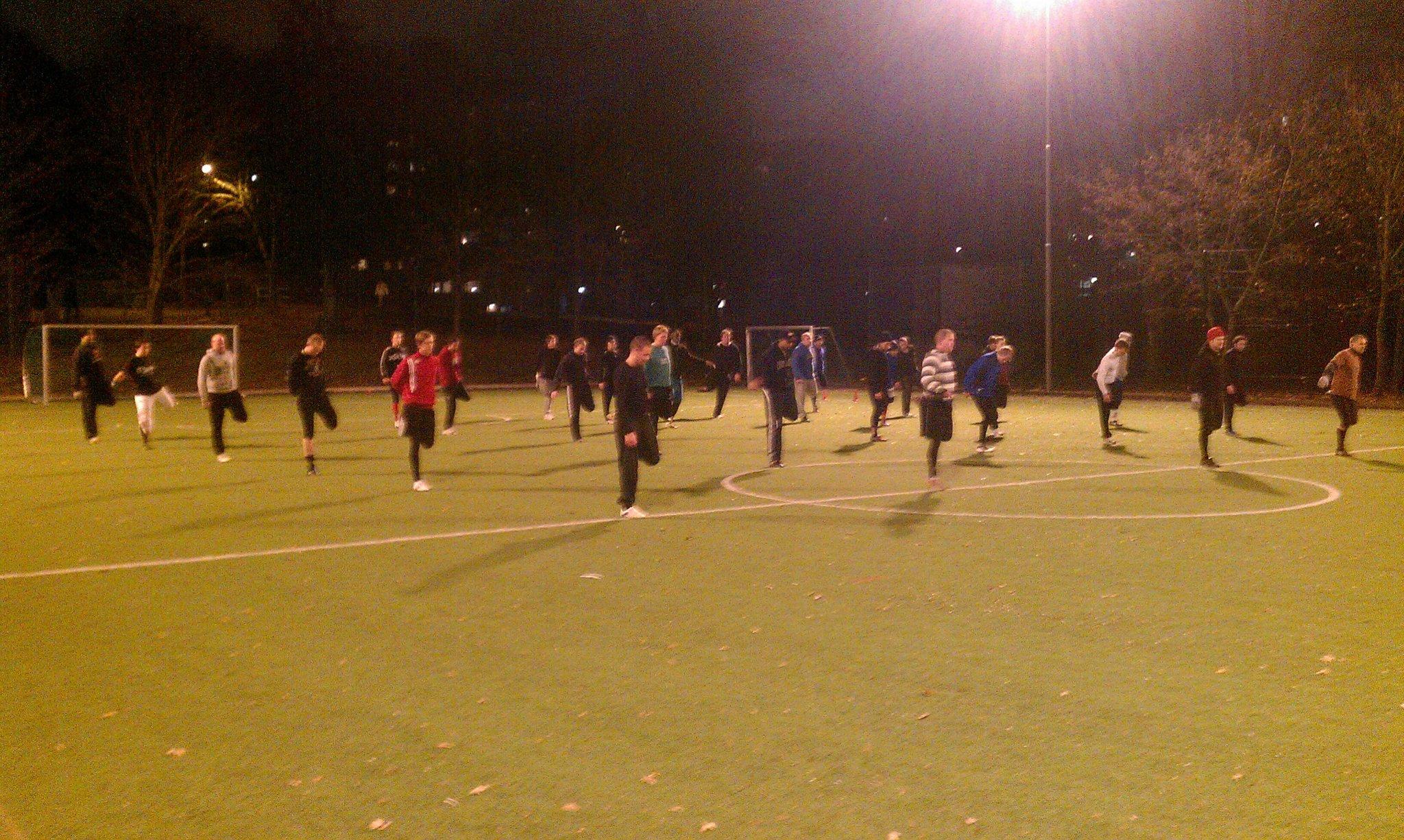 Trening på Sveum Idrettspark i Brumunddal februar 2015