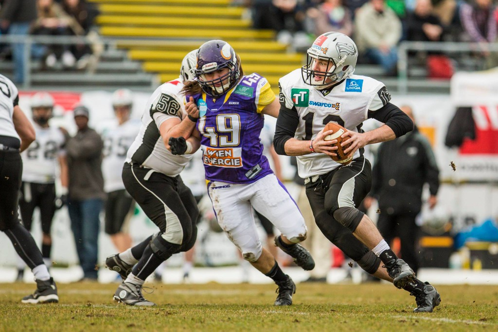 Vienna Vikings vs Swarco Raiders Tirol 20150322 foto Holly Kellner