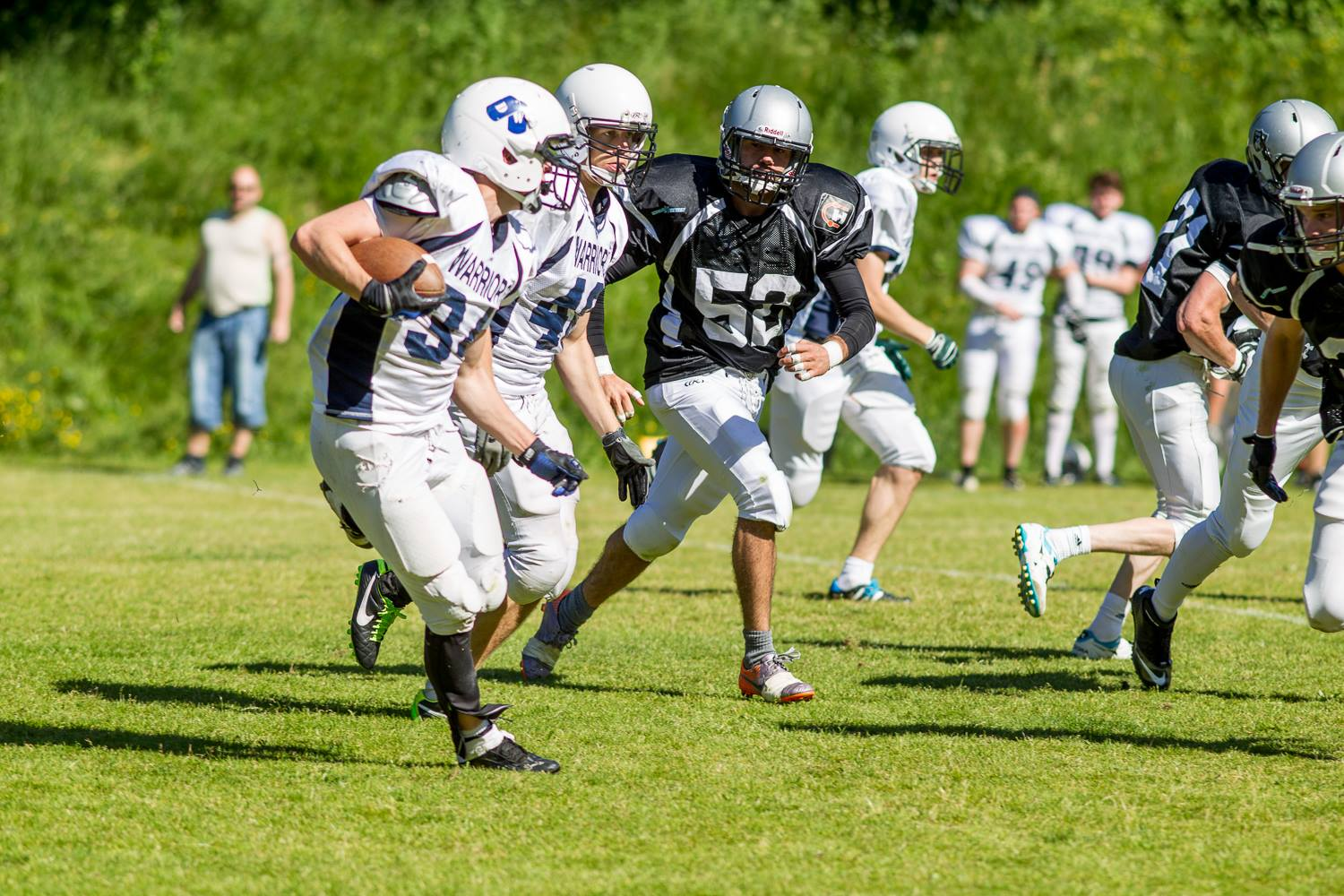 Drammen Warriors at Tønsberg Raiders 2014 - foto av Bjørn Tore Manuel Emanuelson