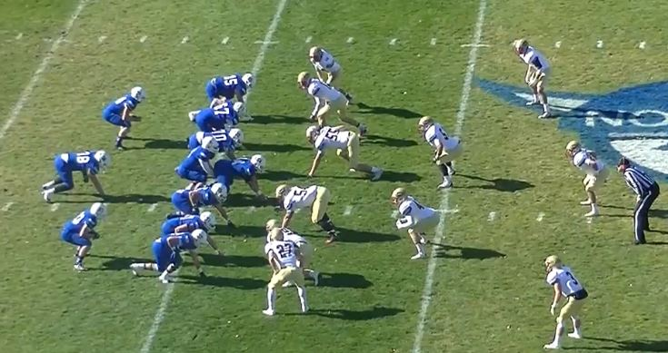 Luther offense - 2 TE 2 SB 1 FB