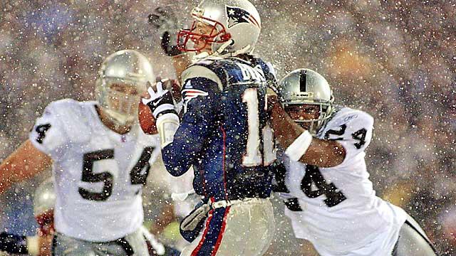 Tuck rule game Brady pic