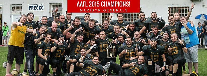 AAFL Bowl champs 2015 - Maribor Generals