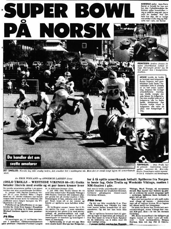 NM-finale 1993 - Super Bowl på norsk