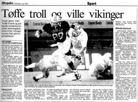 NM-finale 1993 - Tøffe troll og ville vikinger