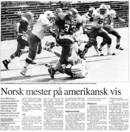 NM-finale 1996 - Norsk mester på amerikansk vis