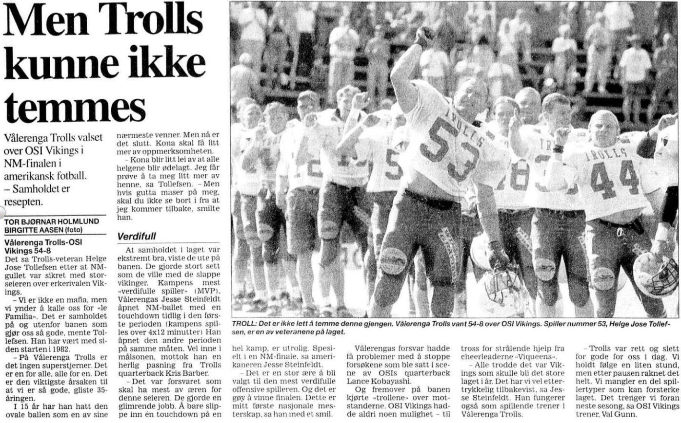 NM-finale 1997 - Troll kunne ikke temmes