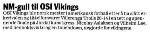 NM-finale 1998 - Nicco og Lae Vikes over Trolls
