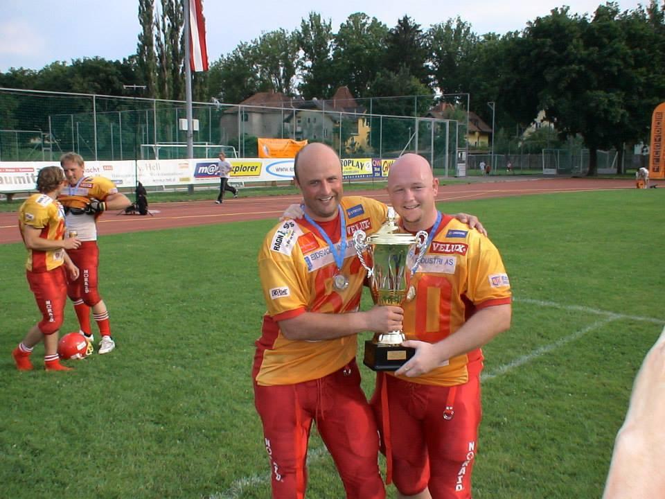 Jarle Østhagen og Kenneth Andersen EFAF Cupfinale 2007