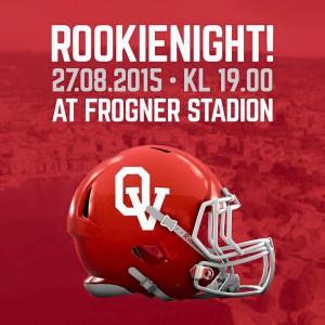 Oslo Vikings rookie night høsten 2015