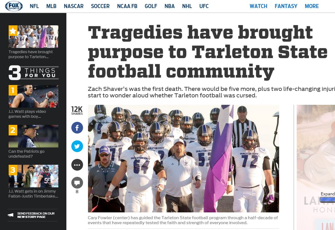 Tarleton tragedies - Fox Sports sin sak