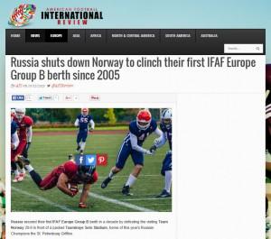 AFI artikkel Russland vs Norge 2015
