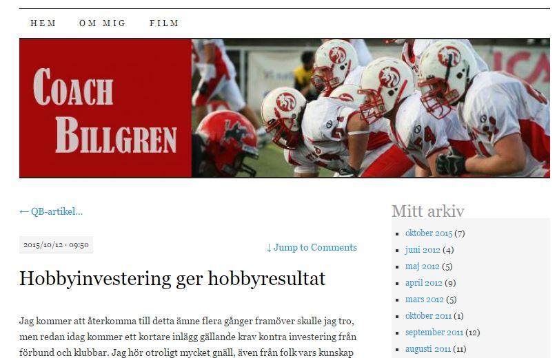 Billgren - hobbyinvestering gir hobbyresultat
