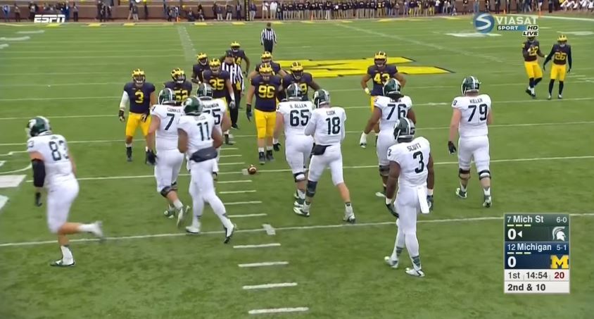 Michigan State vs Michigan 2015 screenshot