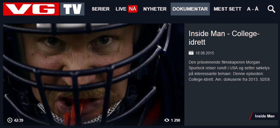 VGTV - Inside man om college-idrett