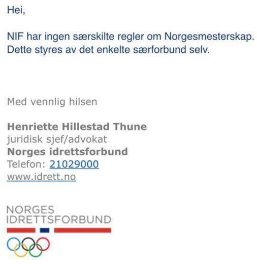 NIF-svar NM-mesterskap 2015