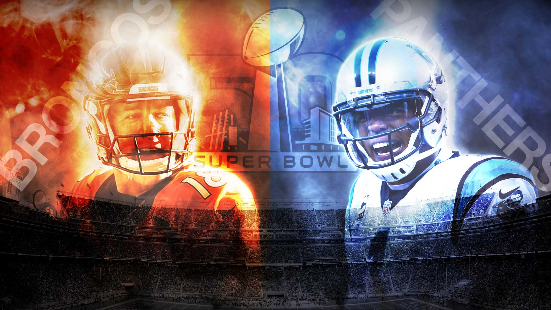 Super Bowl 50 Peyton vs Cam