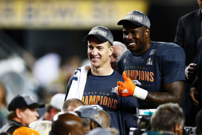 Peyton og Von - SB50 vinnere