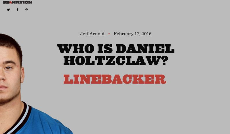 SB Nation - Who is Daniel Holtzclaw.