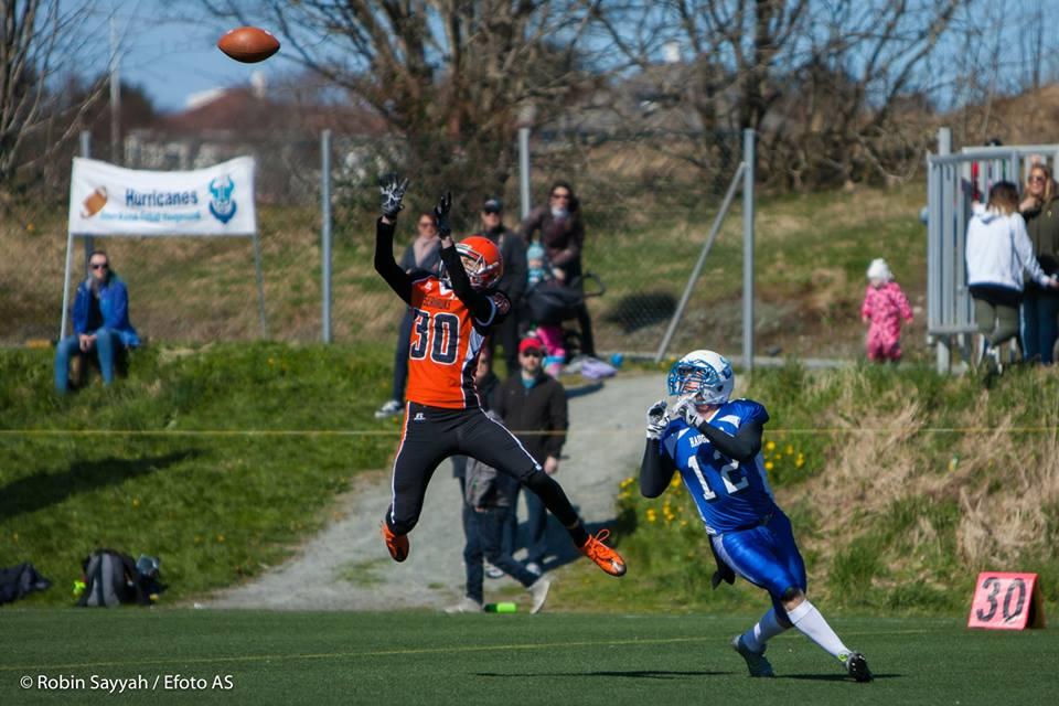 Haugesund Hurricanes vs Åsane Seahawks 2016 - foto Robin Sayyah Efoto AS