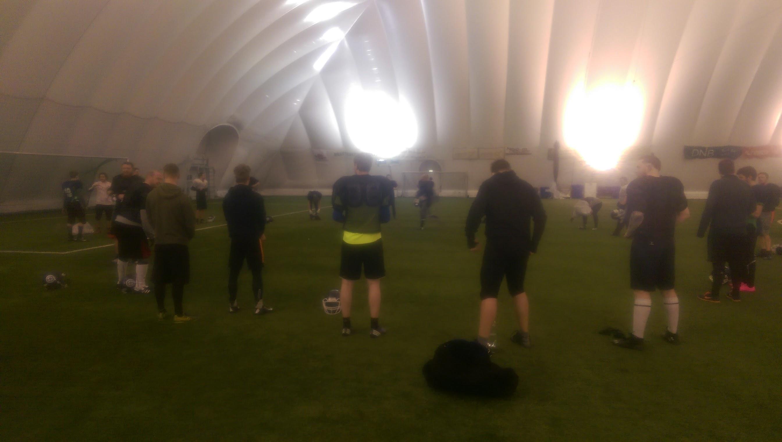 Trailblazers finpusset spillet på trening i går kveld.