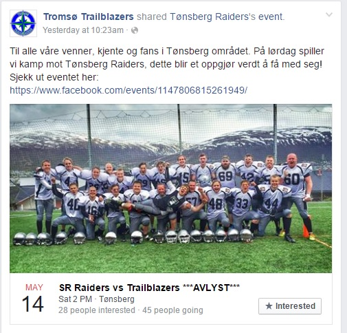 Tromsø trekker seg fra kamp 12.05