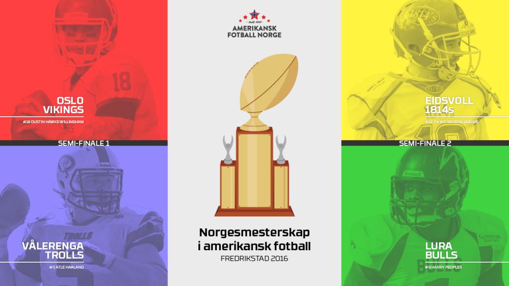 AmFotballNorge - semifinaleillustrasjon