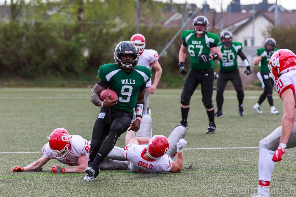 Harry Peoples Bulls vs Vikings 2016 - foto Cecilie Hagen