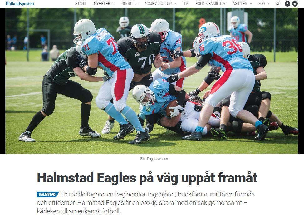 Hallandsposten - Halmstad Eagles reportasje 2016