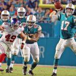 Miami Dolphins Ryan Tannehill under pressure
