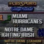 Miami at ND 1988
