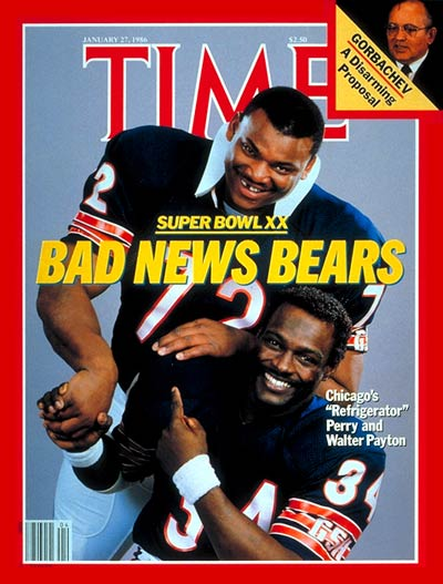 William Perry Walter Payton Times Magazine
