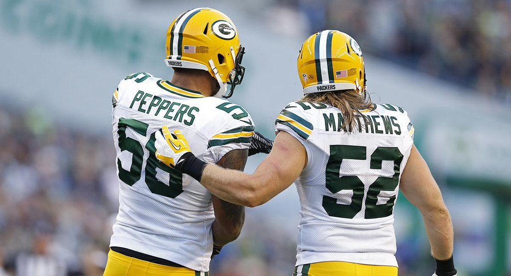 Juluis Peppers og Clay Matthews